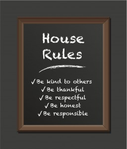 Parents should strive for unity when it comes to household living, including rules, chores, discipline, and allowance.