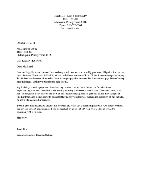 Sample Letter Of Request For A Vehicle