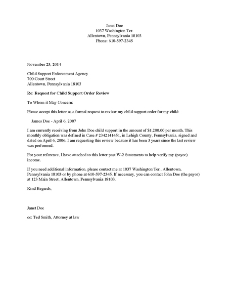Child Support Letter Of Agreement from www.divorcesource.com
